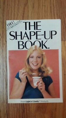 Kraft Light n' Lively The Shape-Up Book 1981 Diet Exercise Recipes Color Booklet