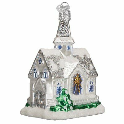 Sparkling Cathedral Ornament Old World Christmas Glitter Accents New Church