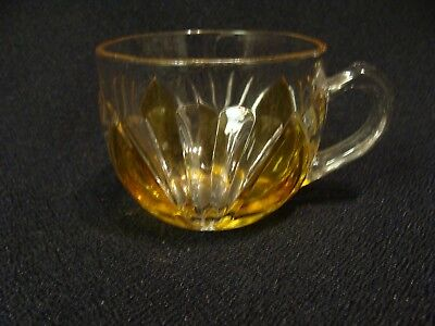 EAPG  U.S. Glass Co's Amber Stained Millard Punch Cup