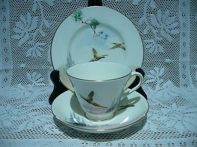 Royal Doulton Bone China Vintage Trio - The Coppice - Pheasants - Vgc