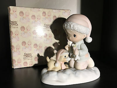 Precious Moments Wishing You A Season Filled With Joy  E-2805, Dove Mark, MIB