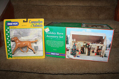 Breyer Horse Accessories Yellow Labrador Dog and Holiday Barn Accessories