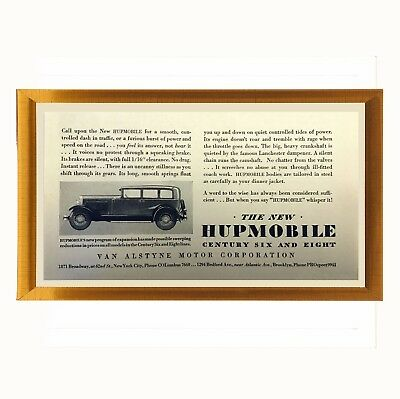1920s Ad Van Alstyne Hupmobile Motor Car  NY 1929 Auto Advertisement