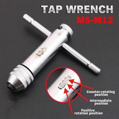 Tap And Die Reversible T Bar Handle Ratchet Wrench M5-M12 Holder set Kit
