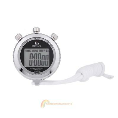 Waterproof Digital LCD Chronograph Timer Stopwatch Sport Counter AM/PM indicator