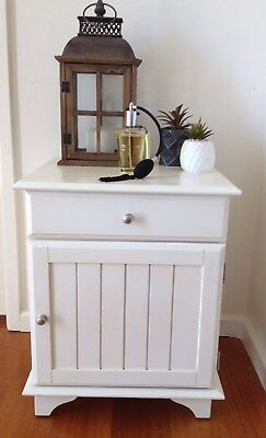 Freedom French Provincial Country Shabby Chic White Bedside Drawers