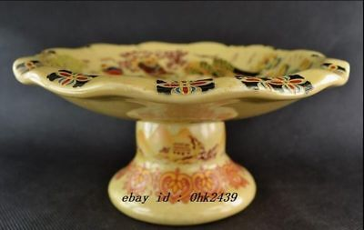 Collectible China Old Decorated Handwork Porcelain Drawing Dowager Fruit Plate