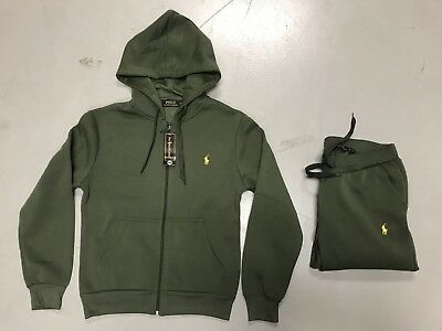 Polo Ralph Lauren Womans Active Full Zip Hoody and Pant Sweat Suit Free Shipping