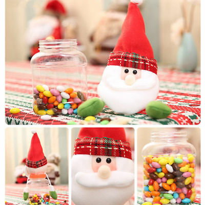 NEW Christmas Santa Claus Candy Jar Storage Bottle Sweet Gift For Friends Kids