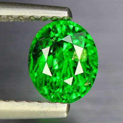 "0.970 Cts_""CERTIFIED"" LOOSE GEMSTONE_100 % NATURAL AAA + GREEN TSAVORITE GARNET"