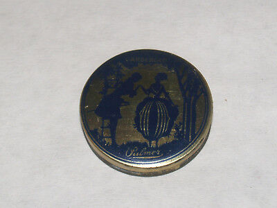 Antique Advertising Art Deco Sample Face Powder Tin Palmer Gardenglo