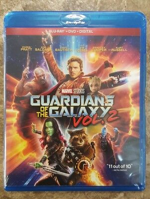 #NEW#  MARVEL GUARDIANS OF THE GALAXY VOL. 2  (Blu-Ray+ DVD+ DC) w/ Slipcover