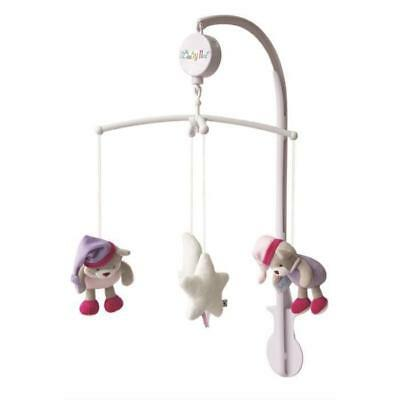 BABY NAT Mobile Musical les Luminescents Rose