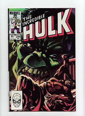 Incredible Hulk #294 Ken Steacy Painted Cover (Marvel 1984) NEAR MINT-