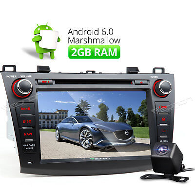 8'' Android 6.0 In-Dash 2GB Car Radio DVD Stereo GPS For Mazda 3 +Reverse Cam A