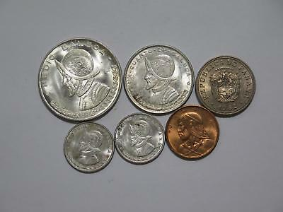 Panama 1961 1962 1/2 1/4 Balboa 5 Centesimos Silver Type Set Coin Collection Lot