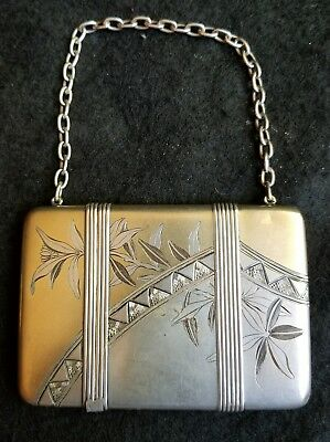 Whiting Sterling Silver Calling Card Case Bright Cut