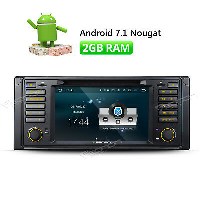 "7""Android 7.1 Car Stereo Radio Fits BMW E39 Head Unit Touch Screen WIFI/RDS HD A"