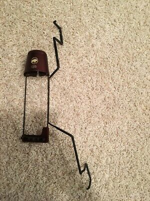 Vintage Fred Bear Archery 4 Arrow Spring Arm RH Bow Quiver. Leather top.