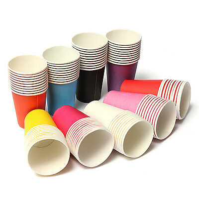 10~50pcs Paper Cups 5Color Tableware Wedding Birthday Party Decoration 7X8.2X5CM