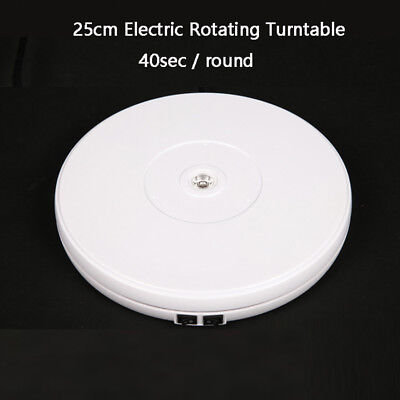 "New 10"" 25cm Led Light 360 Electric Rotating Turntable for Photography Display"