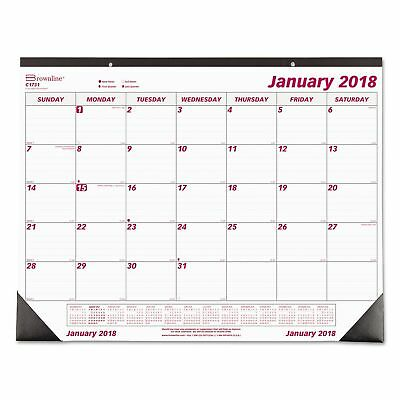 Year 2018 Desk Pad Wall Calendar Chipboard Large Monthly Office Daily Yearly NEW