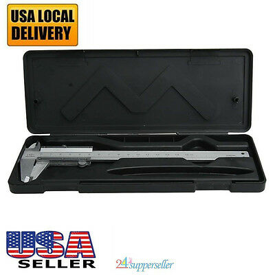 "6"" 150mm Stainless Steel Electronic Digital Vernier Caliper Micrometer Gauge New"