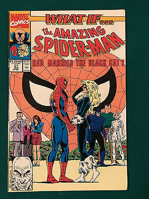 What If #21 VOL 2  SPIDERMAN MARRIED THE BLACK CAT  MARVEL COMIC