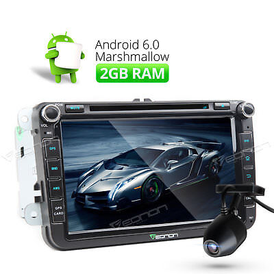 8'' Android 6.0 Octa-Core Car Radio Stereo DVD GPS for VW/Seat/Skoda +DashCam A