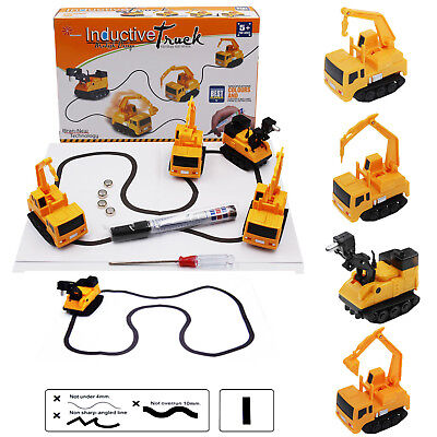 Magic Smart Inductive Truck Crane Car Follow Any Line You Draw Educational Toys
