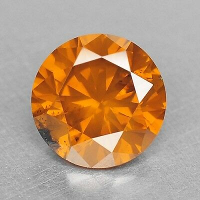FIERY 0.71 Cts FANCY TOP SPARKLING QUALITY ORANGE YELLOW COLOR NATURAL DIAMONDS