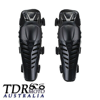 Pair Black Motorcycle Protective Gear Knee Pads Protector Body Guards Pair Kit