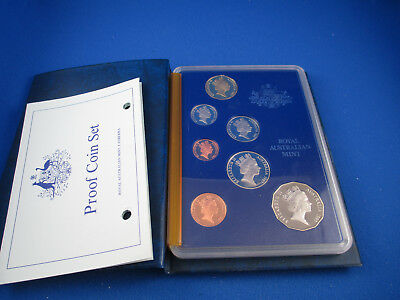 1987 Australian Proof Coin Set - 7 Coins -With COA - Absolutely Beautiful