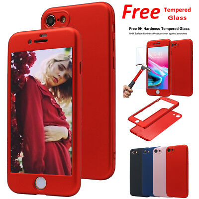 360 Full Protective Hybrid Shockproof Hard Case Slim Cover for iPhone X 7 8 Plus