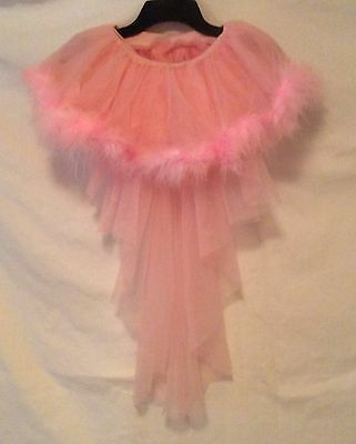 Pink Tutu With A Tail Has Lots of layers and outer edges feathers