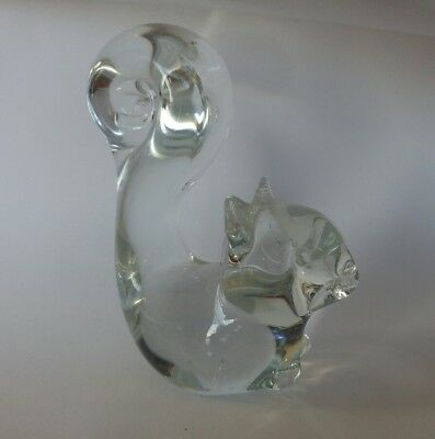 Vintage Adorable Clear Glass Squirrel Figurine