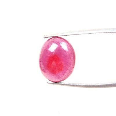10.50 Carats Top Quality Ruby Glass Filled 14.50x12 MM Oval Cabochon Gemstones
