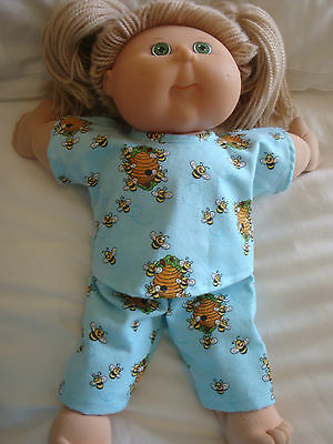 """DOLLS CLOTHES fit 16"""" BOY /GIRL CABBAGE PATCH DOLL - PYJAMAS - Mint bees"""