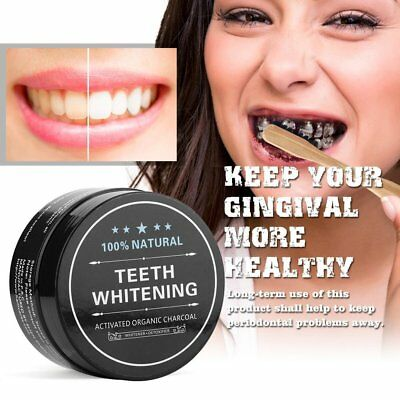 Teeth Whitening Powder Organic Blanchiment Dent Activate Charcoal Bamboo Natural