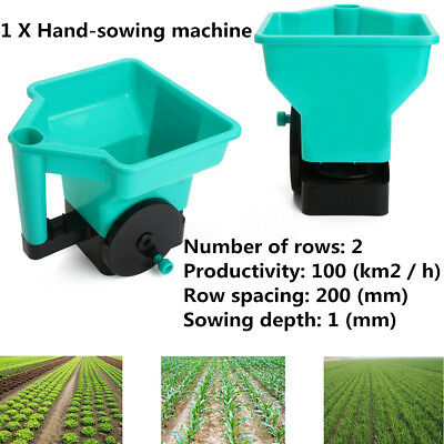 3L Fertilizer Spreader Lawn Seed Weed Hand Sowing Machine 2 Rows Weed Control
