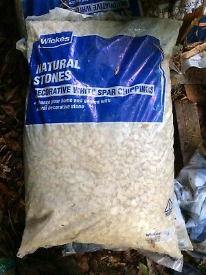 Bag of Decorative White Spar Stone Chippings