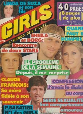 Girls N°92 Oct 1981   Sheila Couv Et 1Pl Page Reportage Collect