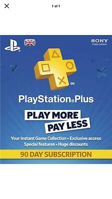 playstation plus 3 Months Code Instant Email Delivery