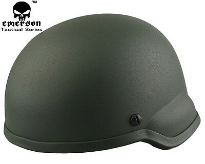 EMERSON Hunting ACH MICH 2002 Helmet Airsoft Tactical Military Helmet OD