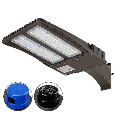 150W LED Parking Lot Light with Photocell, Arm Mount Area Flood Light 18000lm