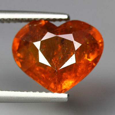 7.15 Cts_Rare Heart Shape Cut_100 % Natural Unheated Orange Spessertite Garnet