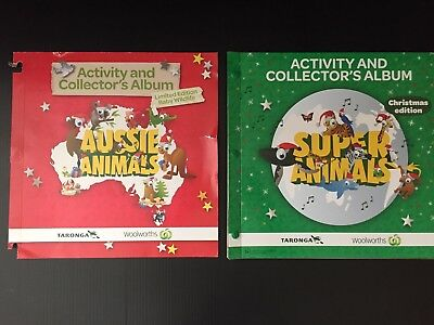 Woolworths Super Animals Christmas Ed. Collectors Album & Complete Set Of Cards!