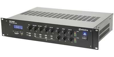 2-Zone 100V Mixer Amplifier with USB/SD/FM/Bluetooth - 2x120W RMS - ADASTRA