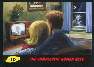 Mars Attacks The Revenge Black [55] Base Card #10 The Complacent Human Race