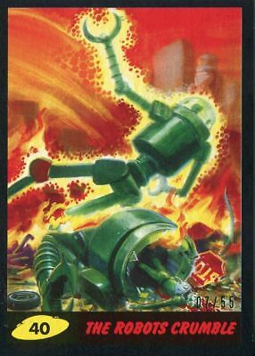 Mars Attacks The Revenge Black [55] Base Card #40 The Robots Crumble